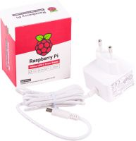 Photo de Alimentation officielle pour Raspberry Pi 4 - 5V 3A (Blanc)
