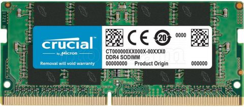 Photo de Barrette mémoire SODIMM DDR4 Crucial PC4-19200 (2400 Mhz) 8Go (Vert)