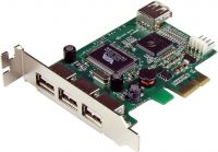 Photo de Carte PCI-Express Startech USB 2.0 - 3 ports externes + 1 port interne