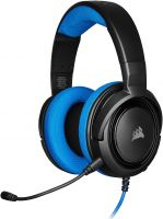 Photo de Casque Gamer filaire Corsair HS35 (Noir/Bleu)