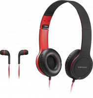 Photo de Casque Micro Gamer Mars Gaming MHCX 2en1 Combo (Noir/Rouge)