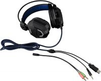 Photo de Casque Micro Gamer The G-Lab Korp 100 (Noir/Bleu)