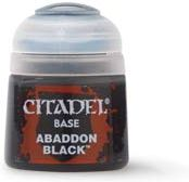 Photo de Citadel Pot de Peinture . - Base Abaddon Black