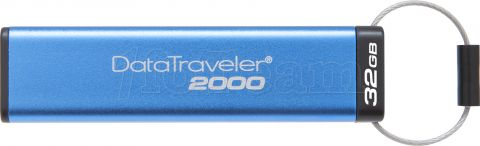 Photo de Clé USB 3.1 sécurisée Kingston DataTraveler 2000 - 32Go