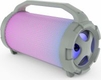 Photo de Enceinte nomade Bluetooth Adler AD 1169 RGB (Gris)