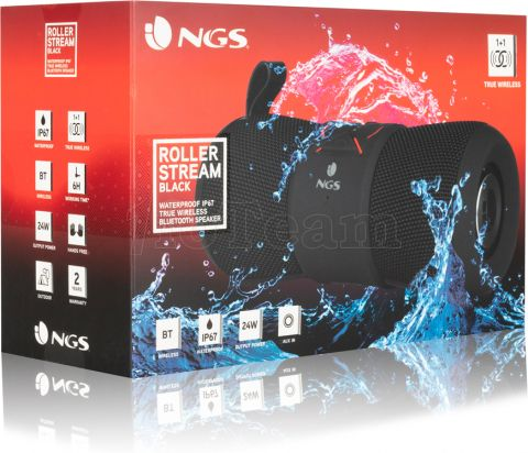 Photo de Enceinte nomade Bluetooth NGS Roller Stream (Noir)