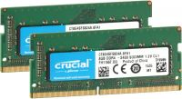 Photo de Kit Barrettes mémoire SODIMM DDR4 Crucial PC4-19200 (2400 Mhz) 16Go (2x8Go) (Vert)