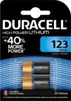 Photo de Lot de 2 piles Lithium Duracell CR123 3V