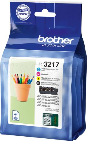 Photo de Pack 4 cartouches d'encre Brother LC3217