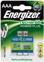 Photo de Pack blister de 2 piles rechargeables Energizer Power Plus type AAA 1,2V - 700 mAh (R06)