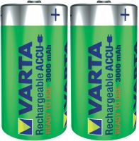 Photo de Pack blister de 2 piles rechargeables Varta Type C 1,2V - 3000 mAh (LR14)