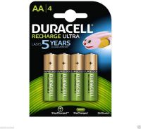 Photo de Pack blister de 4 piles rechargeables Duracell Ultra type AA 1,2V - 2500 mAh (R06)