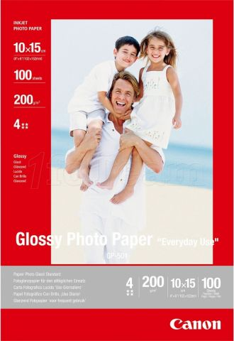 Photo de Papier Photo Canon Glossy - 200g/m² - 100 feuilles 10x15 cm