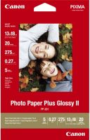 Photo de Papier Photo Canon Plus Glossy II - 265g/m² - 20 feuilles 13x18 cm