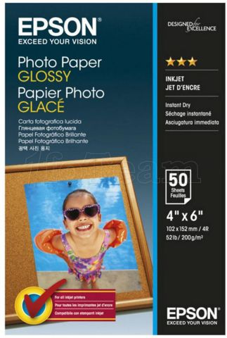 Photo de Papier Photo EPSON glacé 200g/m² - 50 feuilles 10x15 cm