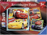 Photo de Puzzle Ravensburger 3 en 1 - Cars 3 (3x 49 pièces)