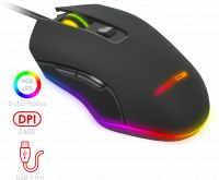 Photo de Souris filaire Gamer Advance GTA 210 RGB (Noir)