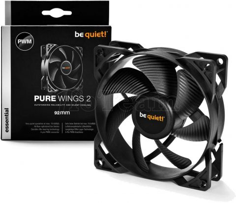 Photo de Ventilateur de boitier Be Quiet Pure Wings 2 PWM - 9,2cm (Noir)